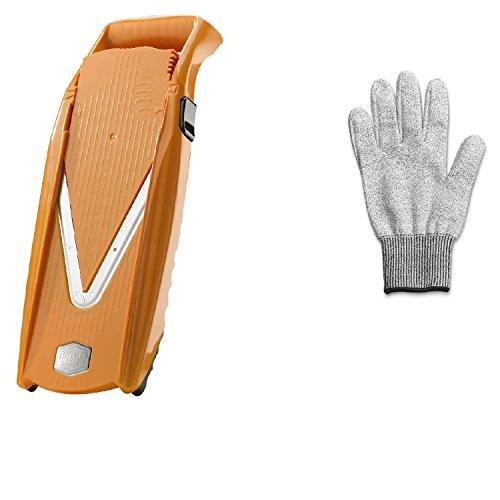 Swissmar Borner V Power Mandoline V-7000, Includes Free Cutting Glove Orange