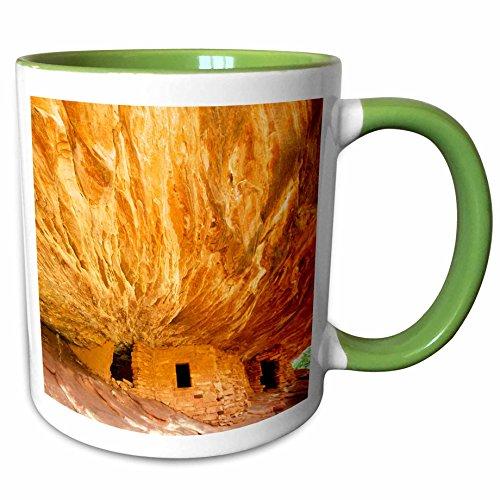 3dRose Danita Delimont - History - The South Fork of Mule Canyons House on Fire Ruin - 11oz Two-Tone Green Mug mug_231653_7