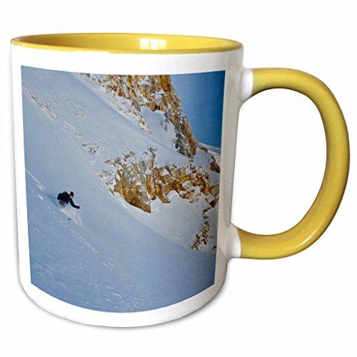 3dRose Danita Delimont - Skiing - Skiing Mill B South Fork Big Cottonwood Utah USA - US45 HGA0396 - Howie Garber - 11oz Two-Tone Yellow Mug mug_147291_8