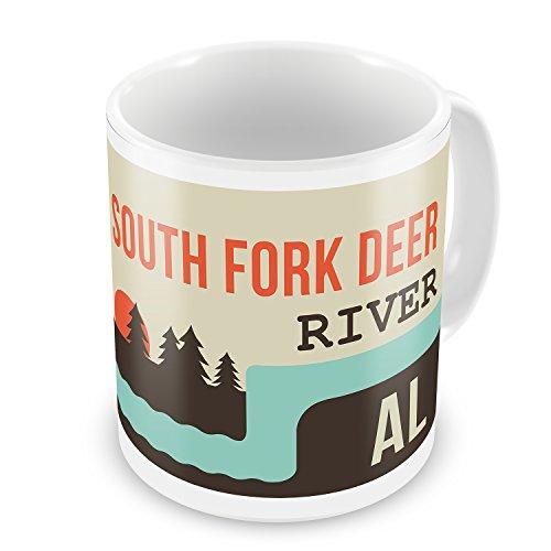 Coffee Mug USA Rivers South Fork Deer River - Alabama - NEONBLOND