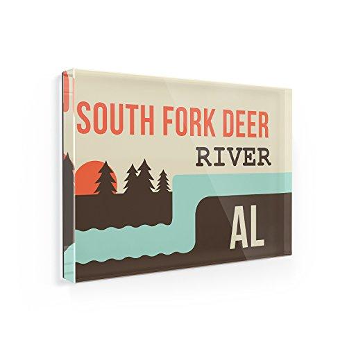 Fridge Magnet USA Rivers South Fork Deer River - Alabama - NEONBLOND