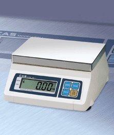 Cas Sw-1 (50) Sw Series Portion Control Bench Scale, 50lb Capacity, 0.02lb Readability