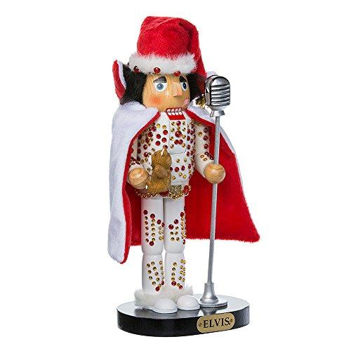 Elvis Presley Kurt Adler Elvis in White Suit Nutcracker 10-Inch