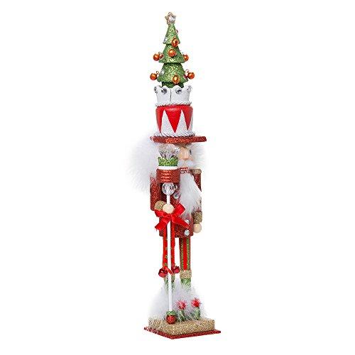 Kurt Adler Hollywood Tree Hat Nutcracker 15-Inch Red and Green