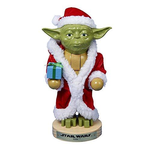 Kurt Adler Yoda in Santa Robe Nutcracker 9-Inch