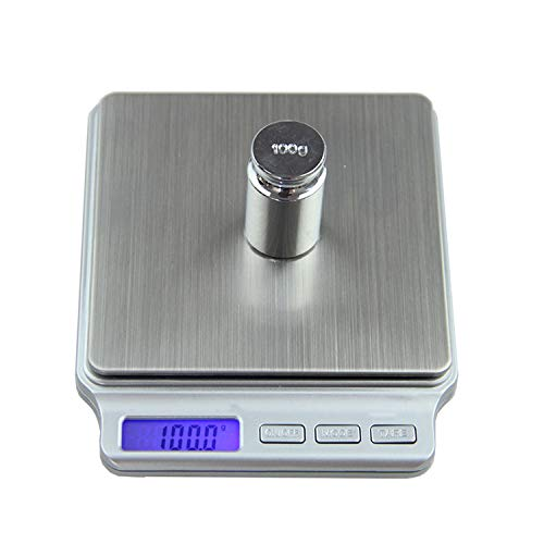Digital Pocket Gram Scale 2000g x 01g Kitchen Cooking Weighing Tools Electronic Balance Weight Scale Stainless Steel Platform