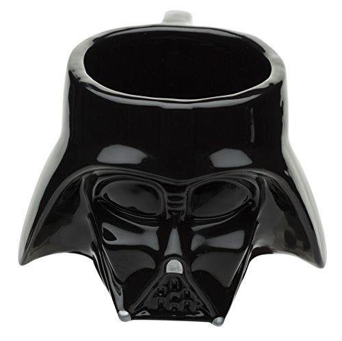 Zak Designs Sculpted Ceramic Mug in Shape of Classic Darth Vader Helmet BPA-free Star Wars Collectible