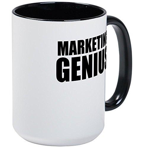 CafePress - Marketing Genius Mugs - Coffee Mug Large 15 oz White Coffee Cup
