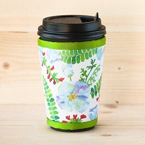 HANDMADE Coffee cup sleeve Watercolor cup cozy Reusable cup holder Starbucks coffee sleeve