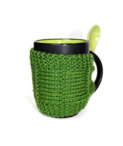 Knitted Mug Cozy Mug Cozy Coffee Cup Cozy Mug Sleeve Tea Mug Cozy Mug Jacket Hot Drink Cozy Light Green Cozy Knitted Drink Sleeve