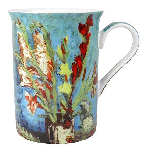 Heath McCabe Vincent Van Gogh Vase with Gladioli Fine Bone China Mug