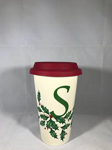 Lenox Holiday M Double Wall Ceramic Thermal Travel Mug