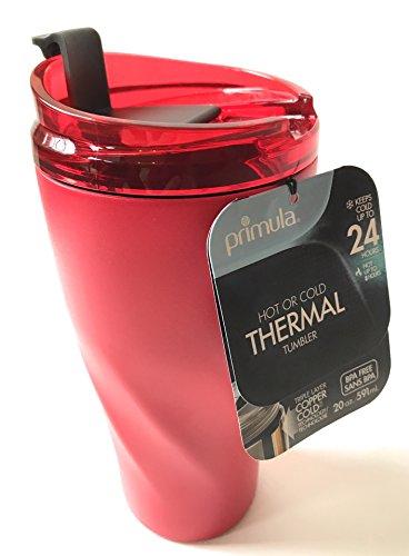 Primula Hot or Cold Thermal Tumbler Red 20 oz Travel Mug BPA Free - LAST ONES