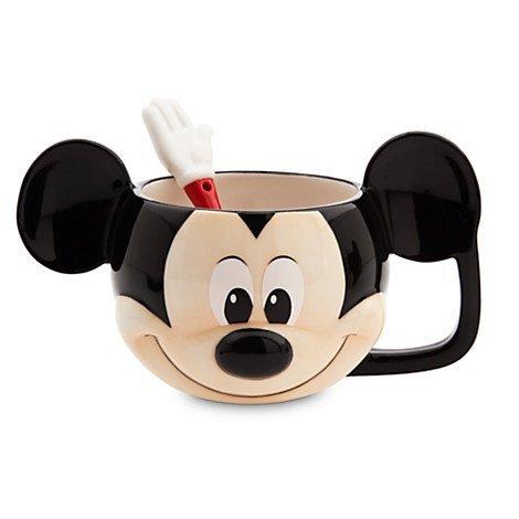 Disney Store Mickey Mouse Mug and Spoon Set