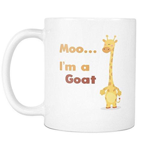 Moo Im a Goat Mug - Funny Giraffe Mug - Giraffe Surprise Mug - Goat Mug - Cow Mug - 11oz Coffee Mug Cup