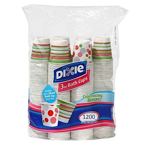 Dixie – Disposable Bathroom Cups Coordinating Design 3 oz - 1200 Cups