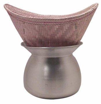 Thai Sticky Rice Steamer Pot And Basket.
