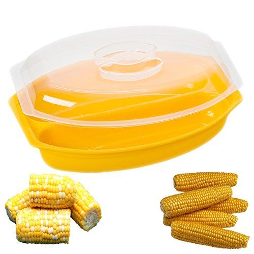 Progressive Microwave Corn Steamer 2-ear Bpa-free Dishwasher Safe Prep Solutions
