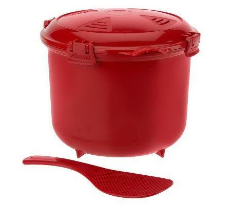 Sistema Red Rice Microwave Multicooker Steamer 2.6 Litre, 87.9 Oz, 11 Cups Or 2.75 Quart Microwave Multicooker