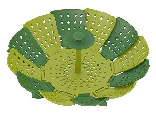 Sweese Folding Non-scratch Steamer Basket, Green