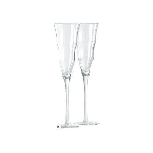 Shiraleah Clear Madrid Champagne Flute Set of 6