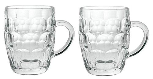 Arcoroc Britannia Set of 2 British Glass Beer Mug 20oz  1 Pint
