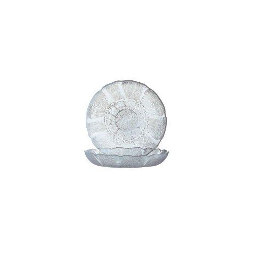 Arcoroc J0226 Fleur Glass 15 Oz Soup  Deep Salad Plate - 36  CS
