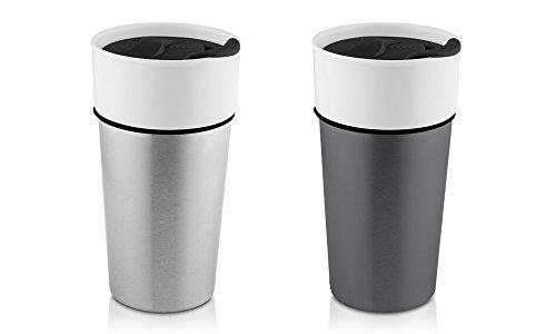 Hamilton Beach ceramic Stainless Travel Mug 14oz 2 Pack Set  Stainless SteelGunmetal
