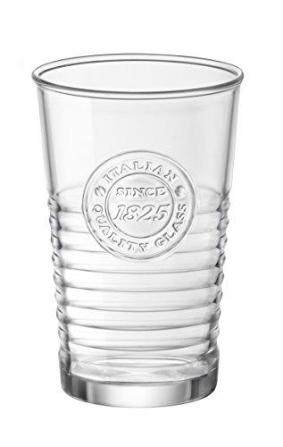 Bormioli Rocco Officina1825 Water Glasses Set of 6 11 oz Clear