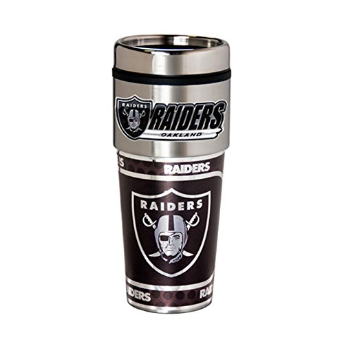 Great American Products Oakland Raiders 16oz Stainless Steel Travel TumblerMug