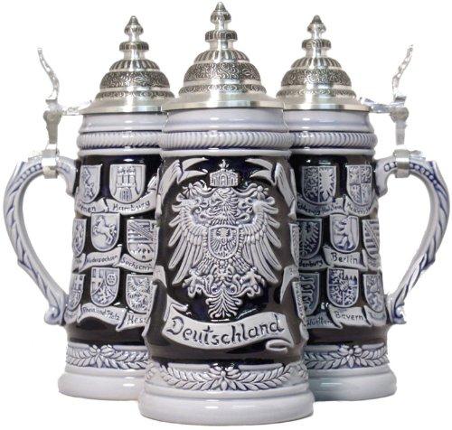 Blue Crest Deutschland German Beer Stein 25L One New Mug Made in Germany
