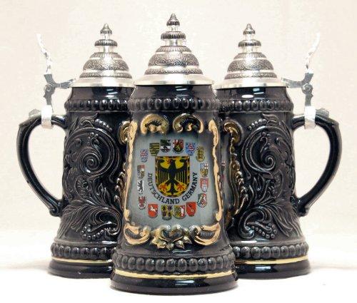 Deutschland Germany Eagle with State Crests German Beer Stein 5L ONE Mug New