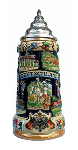 German Beer Stein gracious castle crown stein 05 liter tankard beer mug