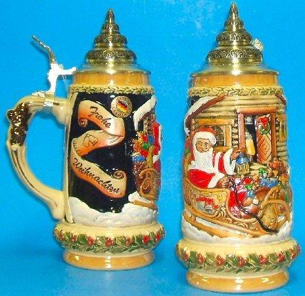 Santas Sleigh LE German Christmas Beer Stein 5L One New Mug Made in Germany