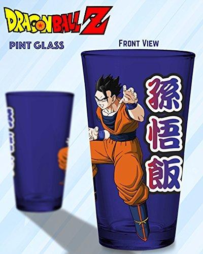 16oz Dragon Ball Z OFFICIAL Blue PREMIUM Pint Glass GIFT with Gohan