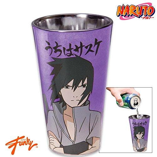 16oz Naruto Shippuden OFFICIAL Purple Sasuke Uchiha PREMIUM Pint Glass GIFT