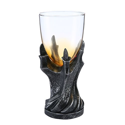 Dragon Claw Goblet Umiwe 3D Dragon Claw Goblet Glass Cup Drinkware for Whiskey Beer Wine and Juice Black
