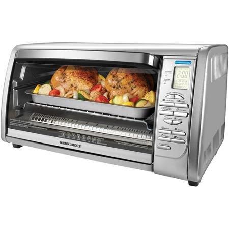 Black & Decker 6-slice Digital Convection Toaster Oven, Stainless Steel