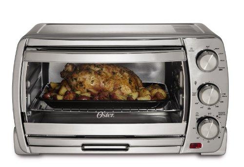 Oster Tssttvsk01 Extra Large Convection Toaster Oven, Brushed Chrome