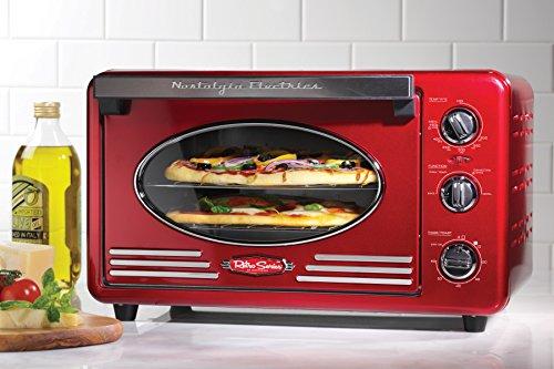 Nostalgia Rtov220retrored Retro Series 6-slice Convection Toaster Oven
