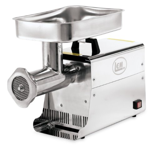 Lem Products 1.5 Hp Stainless Steel Electric Meat Grinder