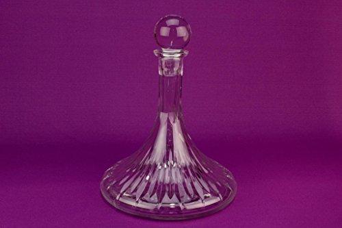 Large Dessert Wine Glass Ship Decanter Carafe Port Sherry Vintage Pyramid Shape