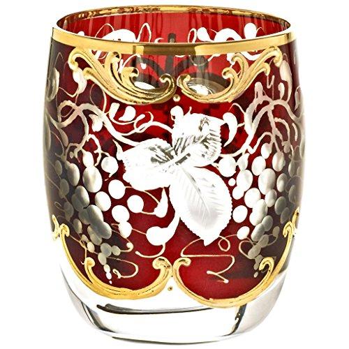 Liqueur Goblet Brandy Glass Cognac Glass GOLDEN GRAPE 50ml hand painted glass modern style GERMAN CRYSTAL powered by CRISTALICA