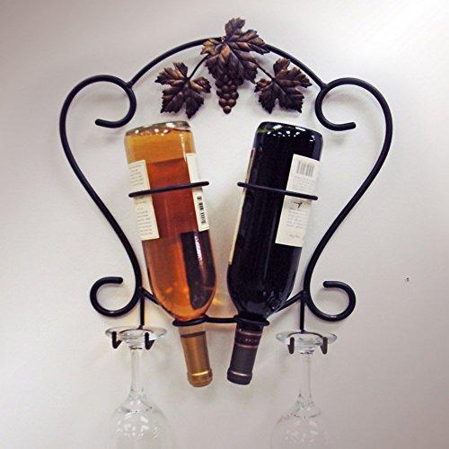 J&J Wire 2-Bottle WineGlass Holder