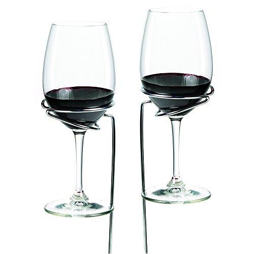 Picnic Stix Set of 2 Wine Glass Holders by True