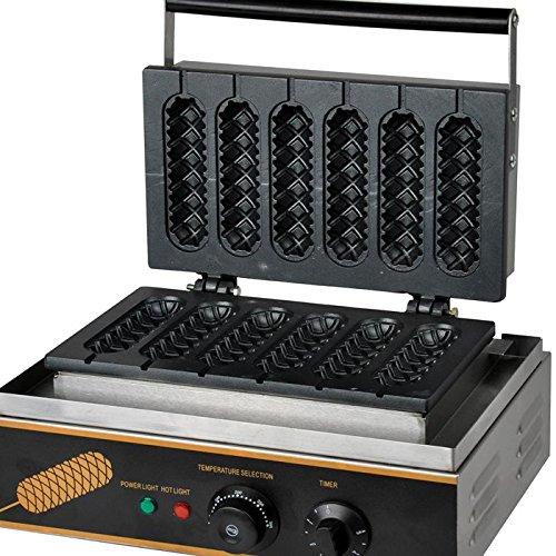 Boshi Electronic Instrument® Fy119 Commerical/home Use 6pcs 110v 220v Electric Waffle Sticks Maker Iron Cake Machine