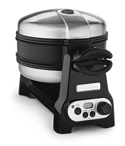 Kitchenaid Kwb110ob Waffle Baker With Ceramashield Nonstick Coating - Onyx Black