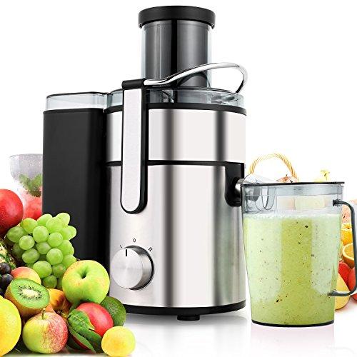 Hopekings Juice Extractor 65MM Wide Mouth Juicer Machine Centrifugal Juicer 350 Watt Fruit Vegetable Juicer for Carrot Orange 80MM