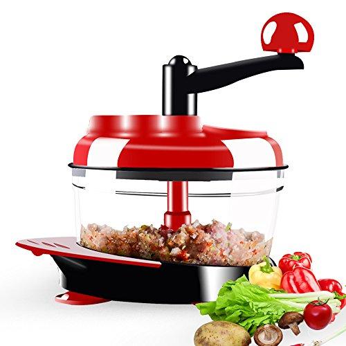 Dongke Manual Food CrusherMeat Grinder Baby Food Processor Chopper For Vegetable Fruits Celery Onions Hand-Powered Mincer Blender Mixer Processor