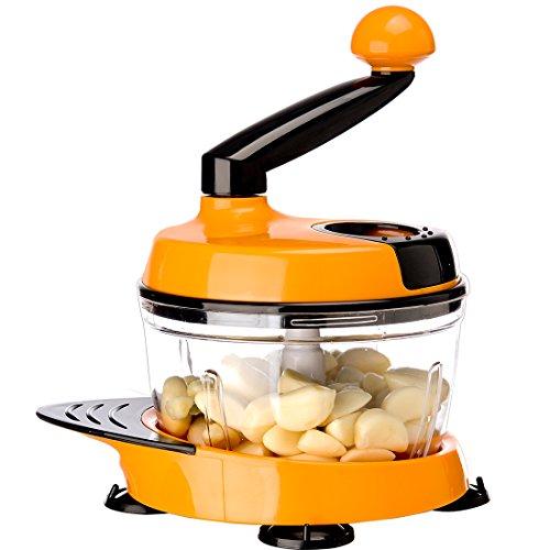 Migecon Manual Food ProcessorA Hand Powered Multifunctional Kithchen food chopperorange
